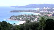 Film Tilt: Aerial view Kata Beach andaman sea Phuket Thailand video