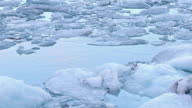 Film Tilt: Iceberg floating in Jokulsarlon lagoon of Vatnajokull Glacier Iceland video