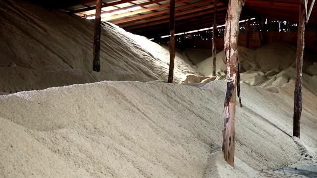 HD Film tilt: Salt factory warehouse video