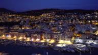 film tilt shot Nice Marina Port French Riviera France night video