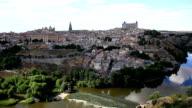 HD Film tilt: Toledo ancient town Cityscape Spain video