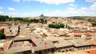 HD Film tilt: Toledo Cityscape Spain video