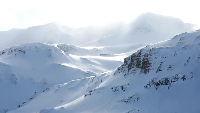 HD Film Tilt: Winter landscape snow Mountain beautiful sunlight Iceland video