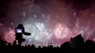 Filming the fireworks display video