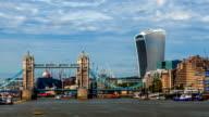 Finacial district of London skyline video