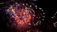 final round fireworks of new years Festival of Thailand in Bangkok at Wat arun video