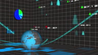 financial and stock market data animation video