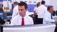 Financial business team of Stock brokers video
