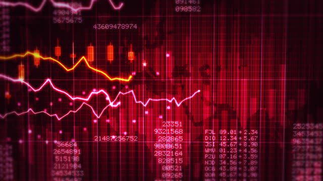 Financial chart. Red and White. video