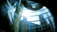 Financial City office Skyscraper Ascending City Elevator video