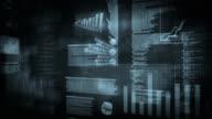 Financial data and charts. Black. Loopable. video