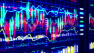 Financial data and charts VII video