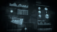 Financial data and charts. Blue. Loopable. video