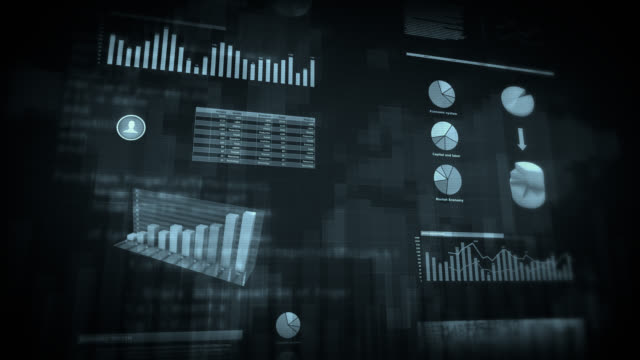 Financial data and charts. White/black/multicolored. Loopable. video