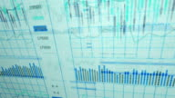 Financial data and charts XVI video