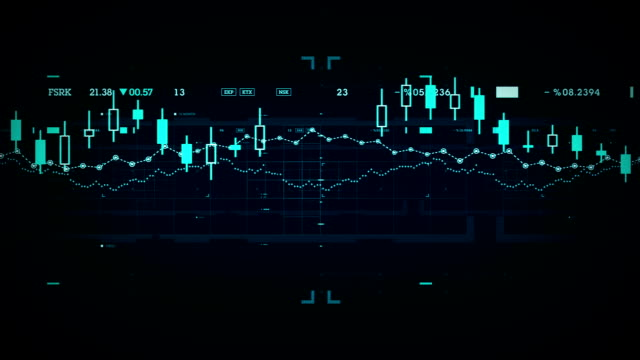 Financial Data Tracking Blue video