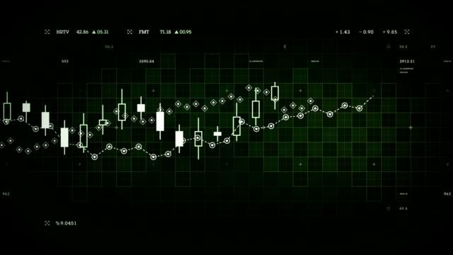 Financial Data Tracking Green video