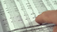 Financial data video