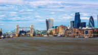 Financial district of London skyline video