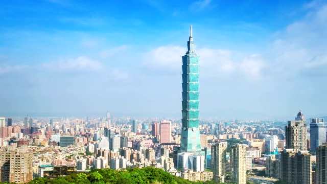 Financial district of Taipei city, Taiwan video