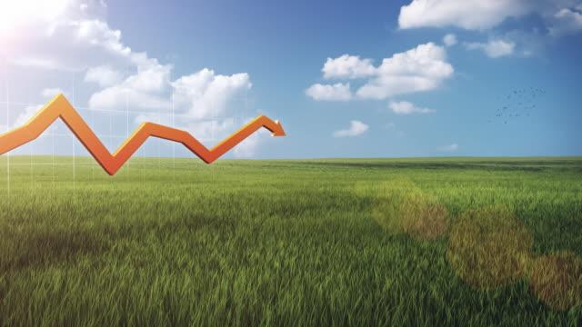 3D financial graph, outdoor video