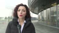 HD: Financial Journalist On Location video
