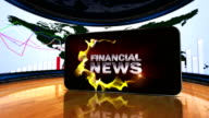 Financial News in Business Room video