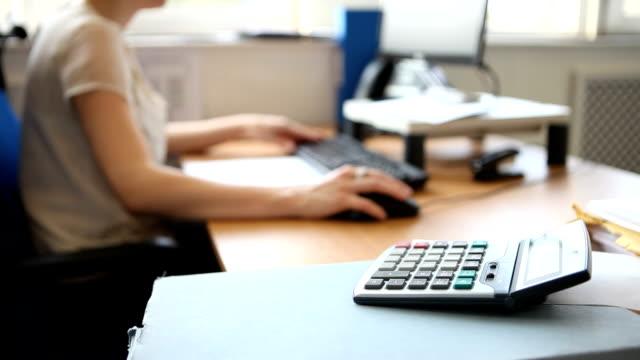 Financial office scene video