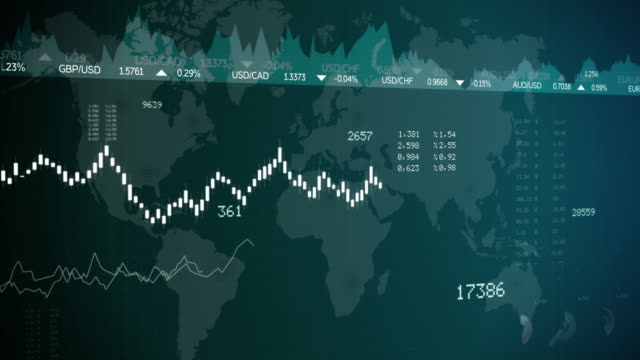 Financial Stock Market Graphic Chart Background video