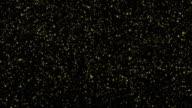 Fine Gold glitter falling confetti with Alpha Channel Matte video