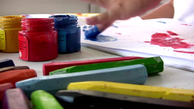 Finger painting video
