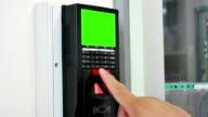 Finger scanning on the security scanner video