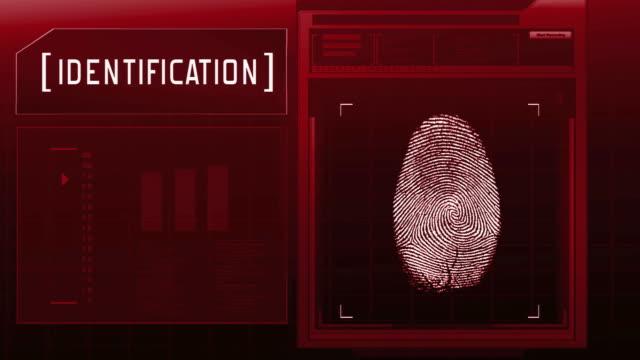 Fingerprint detection scanner : Access granted (Red) video
