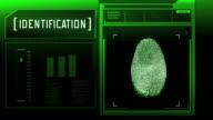 Fingerprint detection scanner : Access granted (Green) video