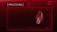 Fingerprint detection scanner : Match Found (Red) video