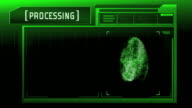 Fingerprint detection scanner : Match Found (Green) video