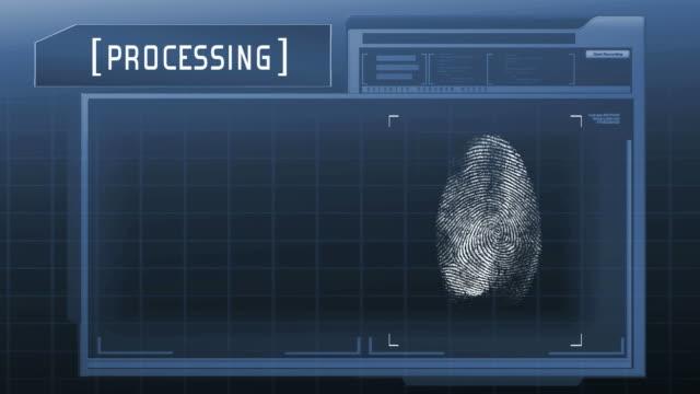 Fingerprint detection scanner : Match Found (Blue) video