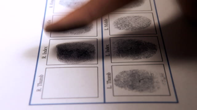 Fingerprint on police paper HD video