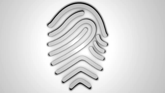 3D fingerprint on white background video