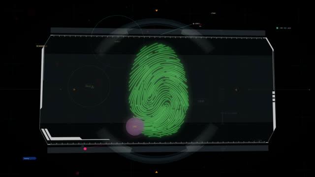 Fingerprint scan, access granted. System authorization, biometric identification video