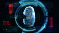 Fingerprint Scan Technology Security (4K Animation) video