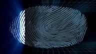 Fingerprint scan video