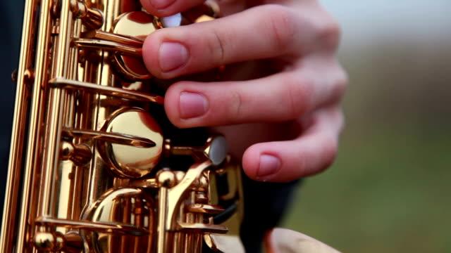 Fingers On Saxophone Keys video