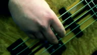 Fingers plays the bass guitar video