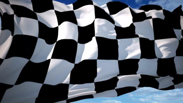 finish flag video
