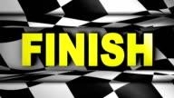 Finish Text in Checker - HD1080 video