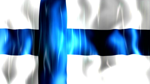 Finland Flag Animation video