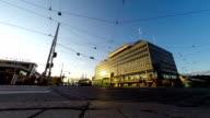 Finland Helsinki street time lapse video