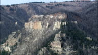 Fire And Pine Beetle Damage In Bighorn National Forest  - Aerial View - Wyoming, Big Horn County, United States video
