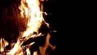 Fire at night video
